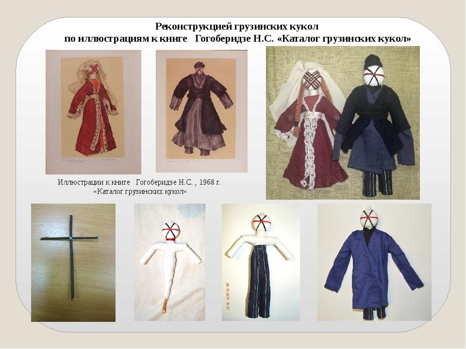 Реконструкцией грузинских кукол по иллюстрациям к книге ГогоберидзеН.С. «Ка...