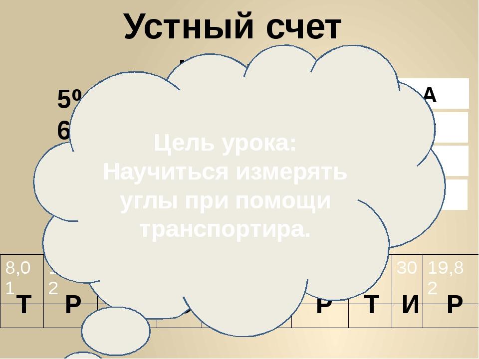 Устный счет 5% от 600 ¾ от 120 67 ∙ 11 51,5:5 0,8∙ 7 9-0,99 12,8+7,02 4:0,8 3...