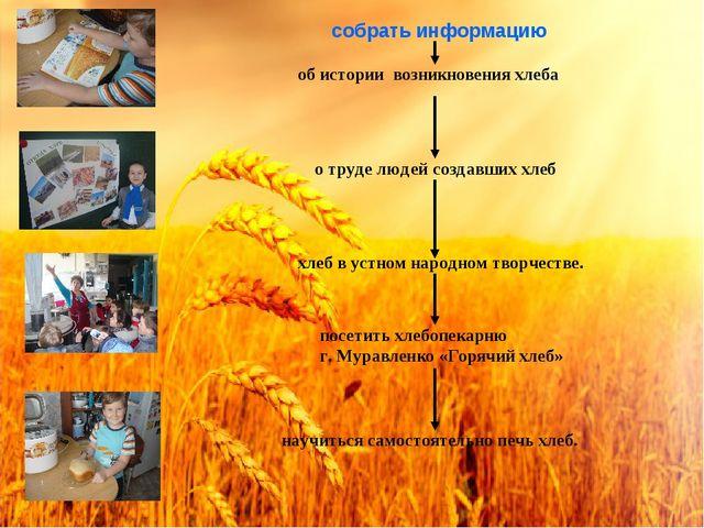 об истории возникновения хлеба о труде людей создавших хлеб собрать информаци...