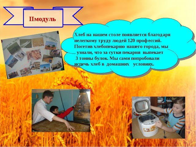 IIмодуль Хлеб на нашем столе появляется благодаря нелегкому труду людей 120 п...