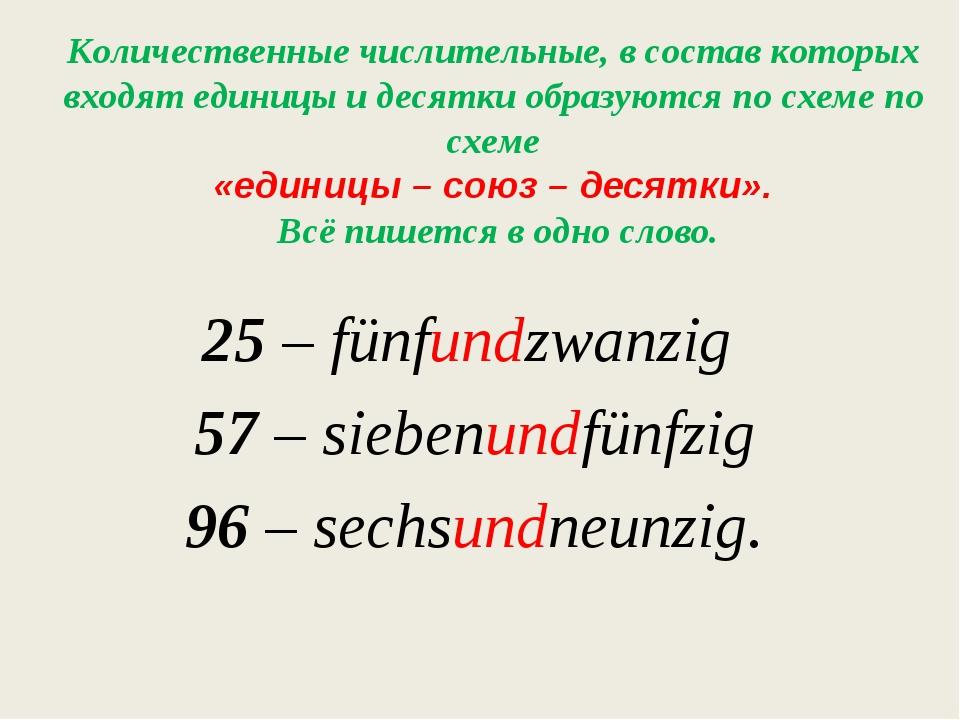 Количественные числительные, в состав которых входят единицы и десятки образу...