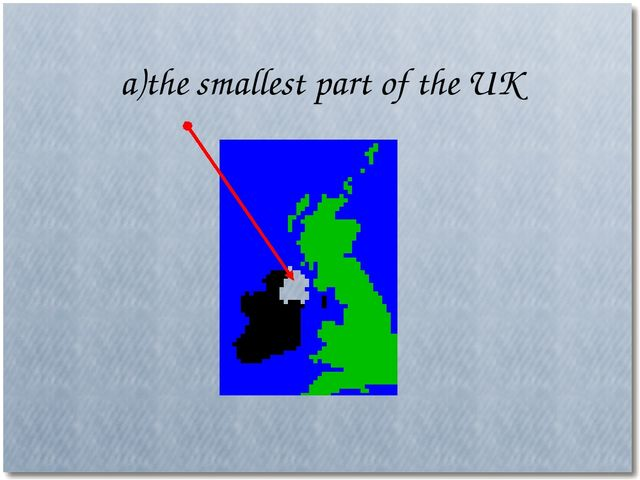a)the smallest part of the UK