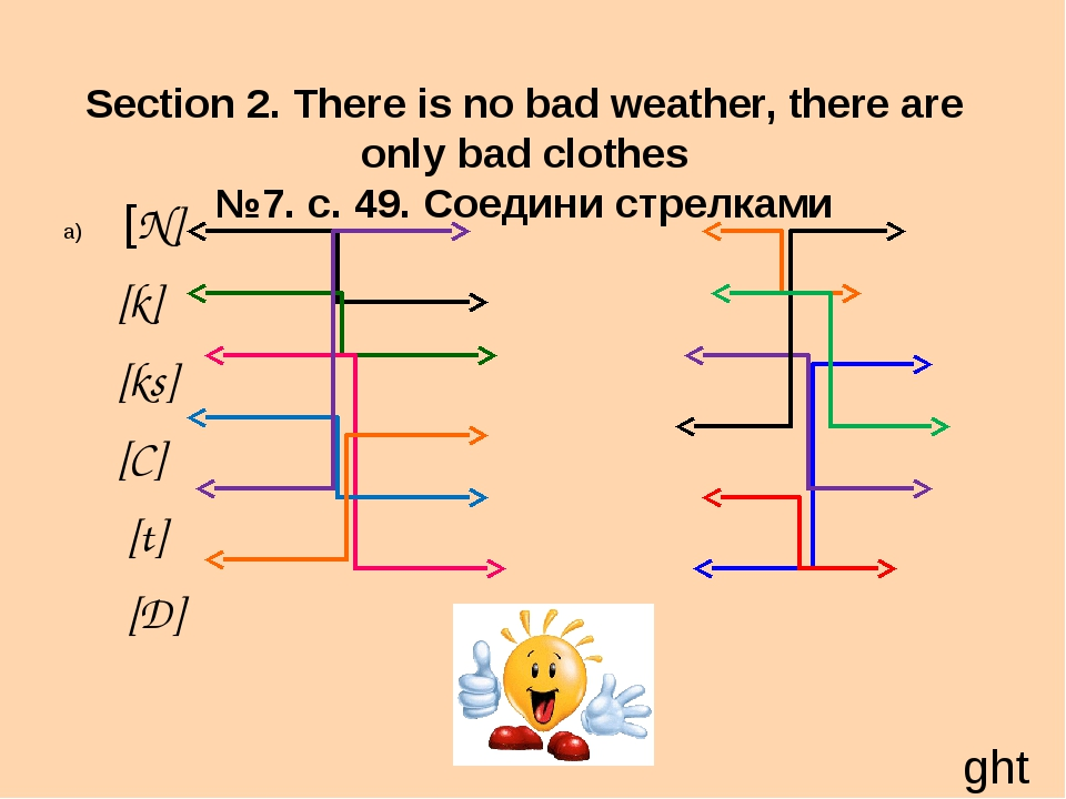 Section 2. There is no bad weather, there are only bad clothes №7. с. 49. Сое...