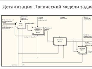 Детализация Логической модели задачи