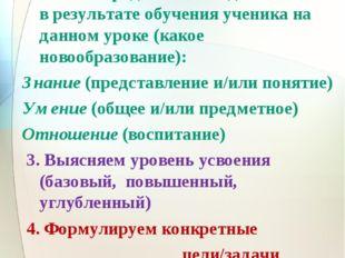 Действия 1. Изучаем стандарт (планируемые результаты) 2. Четко определяем, чт