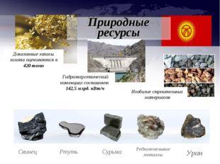 Свинец Ртуть Сурьма Редкоземельные металлы Уран Доказанные запасы золота оцен