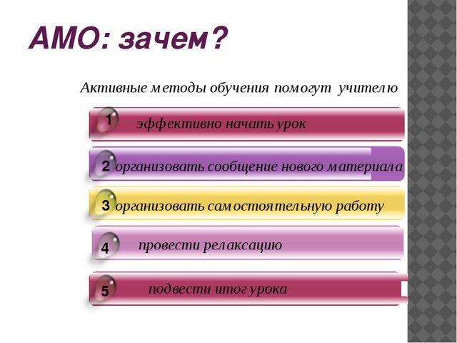 АМО: зачем?