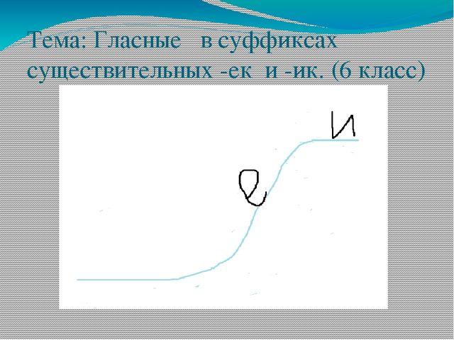 Тема: Гласные в суффиксах существительных -ек и -ик. (6 класс)