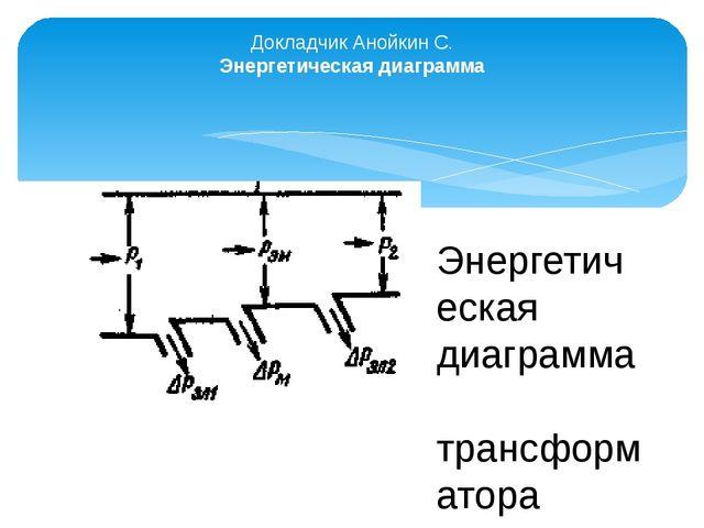 Докладчик Анойкин С. Энергетическая диаграмма Энергетическая диаграмма тран...
