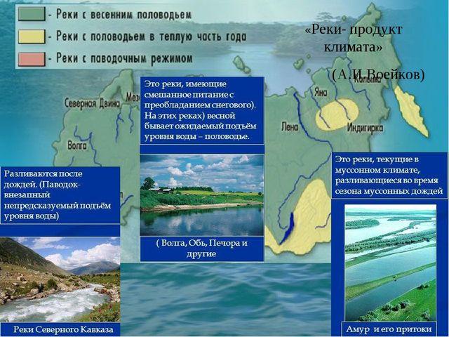 Конспект урока по географии 7 класс климат реки
