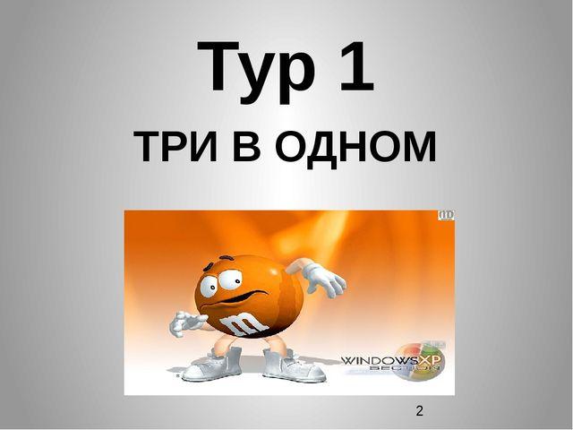 Тур 1 ТРИ В ОДНОМ