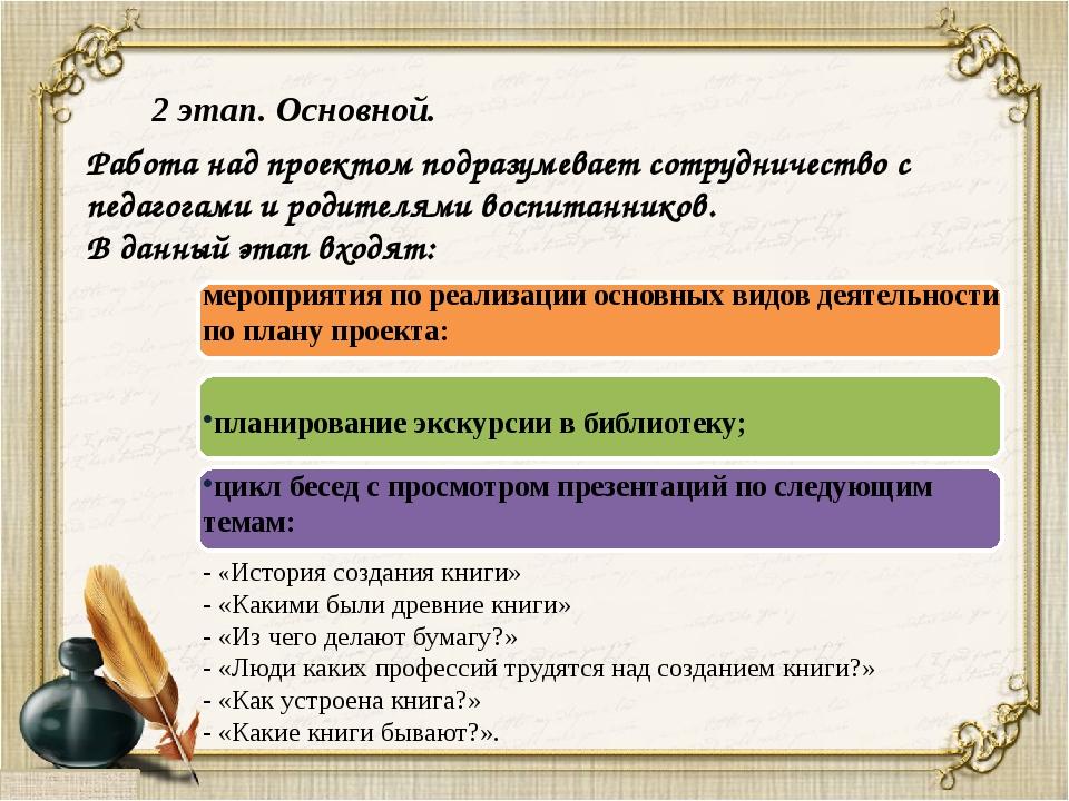 мероприятия по реализации основных видов деятельности по плану проекта: план...