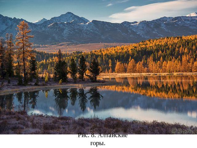 Рис. 8. Алтайские горы.