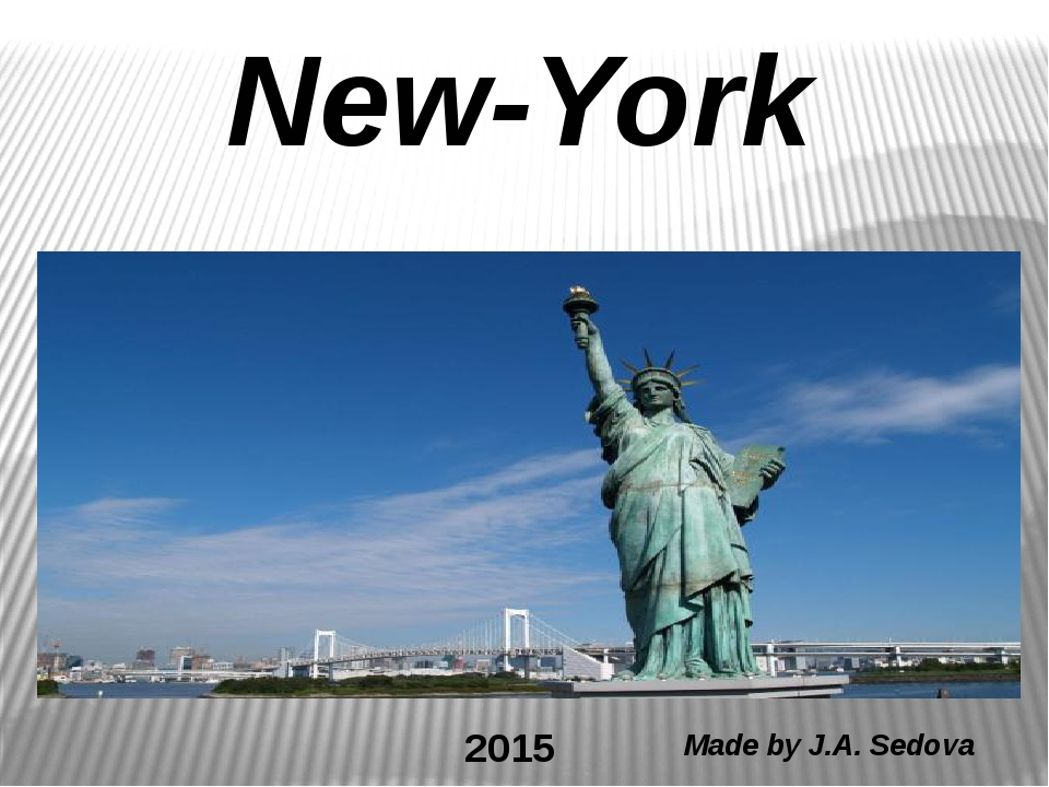 New-York Made by J.A. Sedova 2015