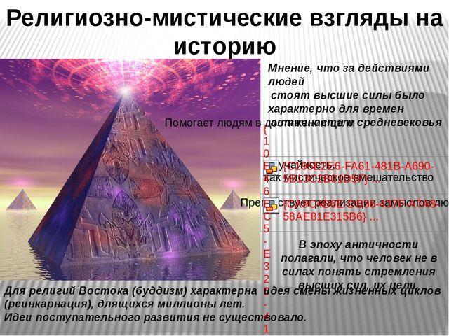 Религиозно-мистические взгляды на историю Мнение, что за действиями людей сто...
