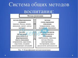 Система общих методов воспитания: