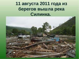 11 августа 2011 года из берегов вышла река Силинка.