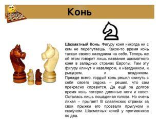 Конь Шахматный Конь. Фигуру коня никогда ни с кем не перепутаешь. Какое-то вр