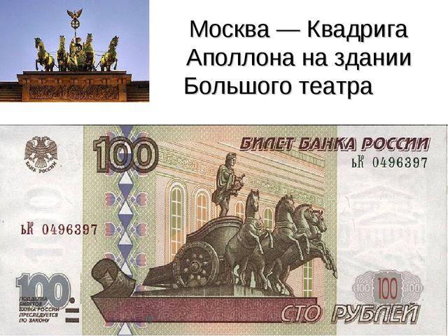 Москва — Квадрига Аполлона на здании Большого театра 6