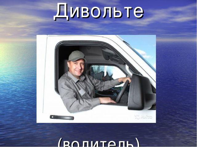 Дивольте (водитель)