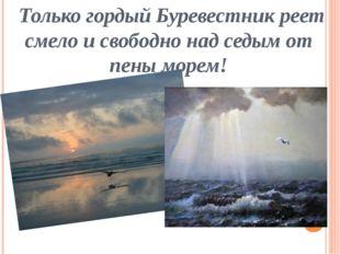 Только гордый Буревестник реет смело и свободно над седым от пены морем!