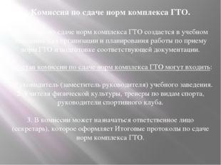 Комиссия по сдаче норм комплекса ГТО. Комиссия по сдаче норм комплекса ГТО со