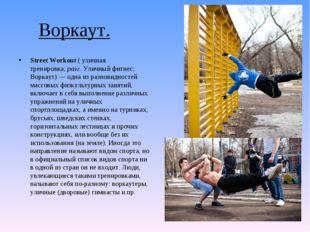 Воркаут. Street Workout(уличная тренировка;разг.Уличный фитнес; Воркаут)