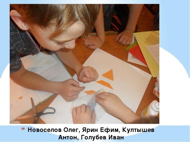 Новоселов Олег, Ярин Ефим, Култышев Антон, Голубев Иван