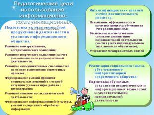 * Интенсификация всех уровней учебно-воспитательного процесса: Повышение эффе