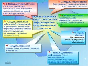 * 1. Модель изучения. Изучение и освоение компьютера, пользовательского интер