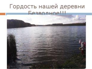 Гордость нашей деревни Безводное!!!