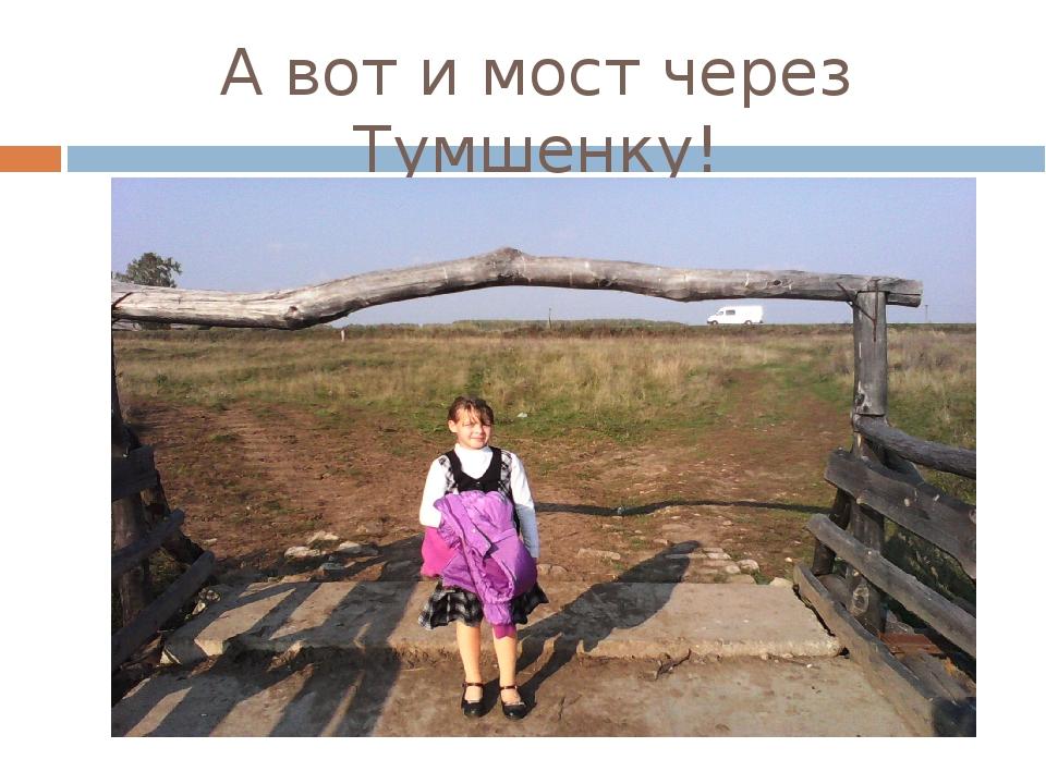 А вот и мост через Тумшенку!
