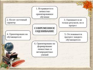 2. Носит системный характер 1. Встраивается в личностно-ориентированное обуче