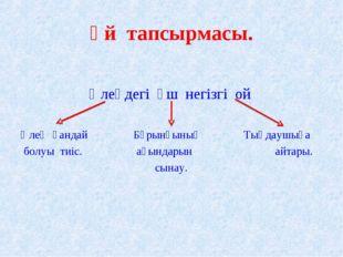 Үй тапсырмасы. Өлеңдегі үш негізгі ой Өлең қандай Бұрынғының Тыңдаушыға бо
