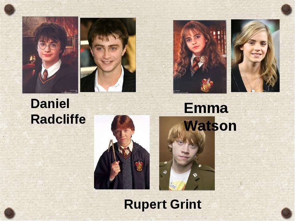 Emma Watson Daniel Radcliffe Rupert Grint