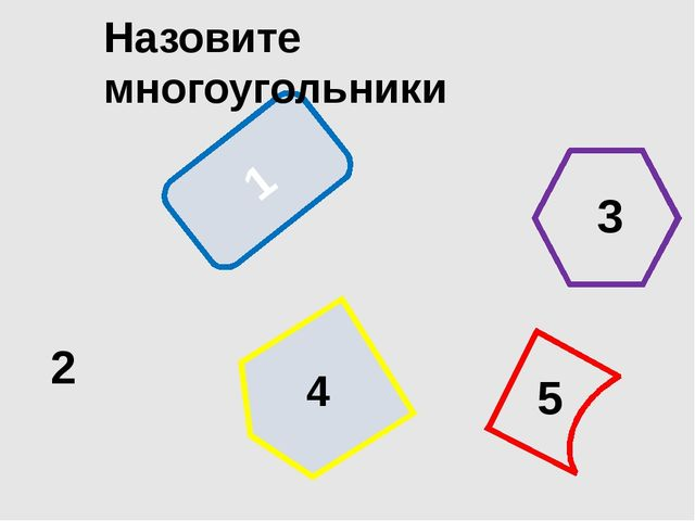 1 Назовите многоугольники 2 3 4 5