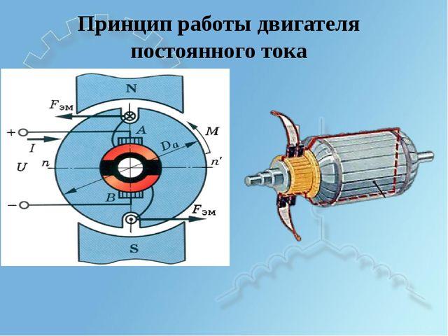 Принцип работы двигателя постоянного тока