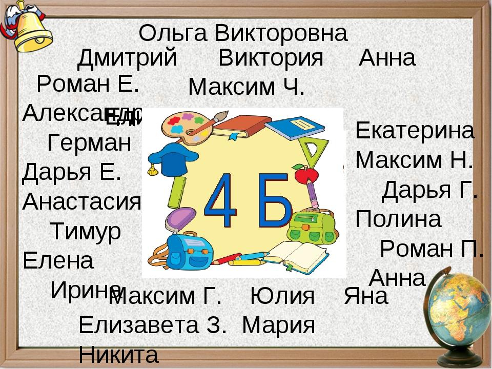 Роман Е. Александр Герман Дарья Е. Анастасия Тимур Елена Ирина Екатерина Мак...