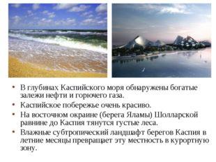 В глубинах Каспийского моря обнаружены богатые залежи нефти и горючего газа.