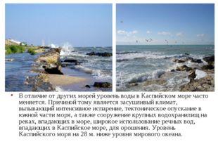 В отличие от других морей уровень воды в Каспийском море часто меняется. Прич