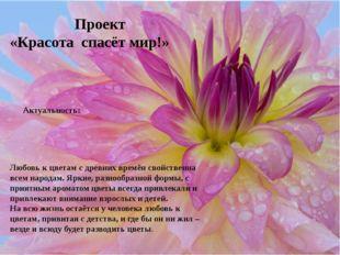 Любовь к цветам с древних времён свойственна всем народам. Яркие, разнообраз