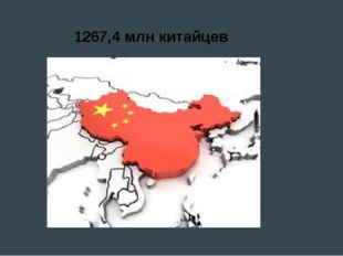 1267,4 млн китайцев