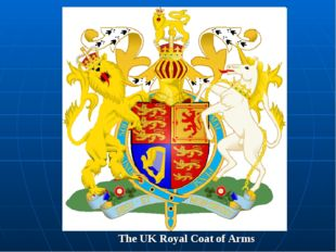 The UK Royal Coat of Arms