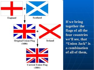 "If we bring together the flags of all the four countries we'll see, that ""Uni"
