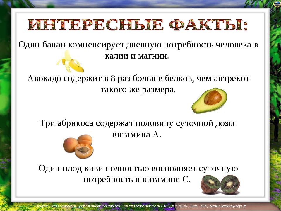 Один банан компенсирует дневную потребность человека в калии и магнии. Авокад...