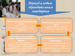 Обновленная нормативная база (ФГОС ООО , профессиональный стандарт «Педагог»)