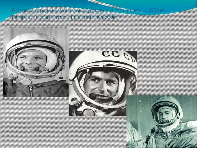 В первом отряде космонавтов обозначились три лидера— Юрий Гагарин,Герман Ти...