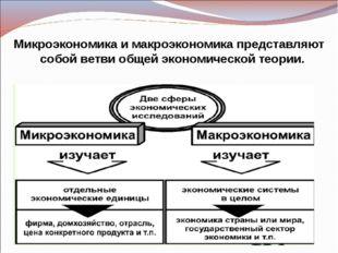 Микроэкономика и макроэкономика представляют собой ветви общей экономической