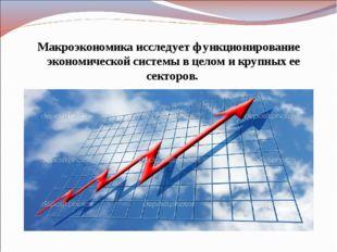 Макроэкономика исследует функционирование экономической системы в целом и кру