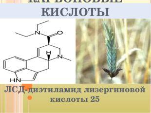 КАРБОНОВЫЕ КИСЛОТЫ ЛСД-диэтиламид лизергиновой кислоты 25